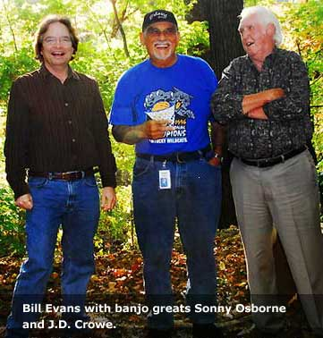 Bill Evans with banjos greats Sonny Osborne and J.D. Crowe