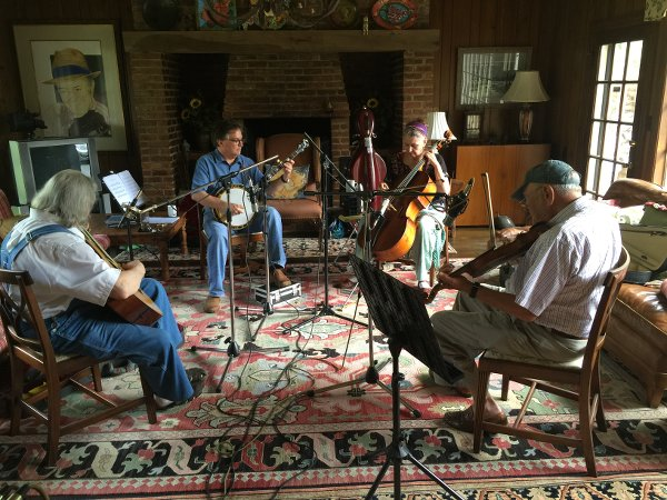Recording in Fletcher's Lookout Mountain, Tennessee home.